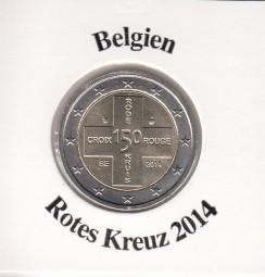 Belgien 2 € 2014 Rotes Kreuz