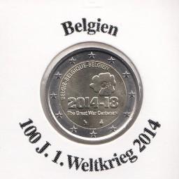 Belgien 2 € 2014 , 100 Jahre 1. Weltkrieg