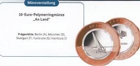 Deutschland 10 € 2020, Polymer, An Land, ST , Satz kpl. A,D,F,G,J, bankfrisch