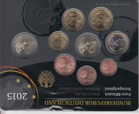 Deutschland Kursmünzsatz 2015 ST kpl. A,D,F,G,J,