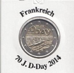 Frankreich 2 € 2014, 70 Jahre D - Day