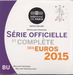Frankreich Kursmünzsatz 2015 ST