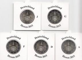 Deutschland 2 € 2015, Hessen,A,D,F,G,J