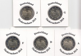 Deutschland 2 € 2014 Niedersachsen ( Michaeliskirche in Hildesheim )