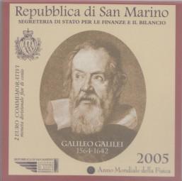 San Marino 2 € 2005 Galileo Galilei