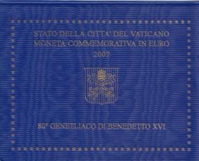 Vatikan 2 € 2007, 80 Jahre Geburtstag Benedikt