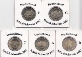 Deutschland 2 € 2007, Schwerin A,D,F,G,J,