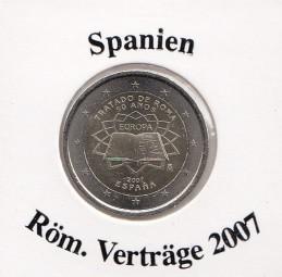 Spanien 2 € 2007 Röm. Verträge