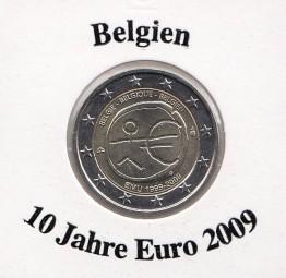 Belgien 2 € 2009, 10 Jahre Euro
