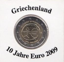 Griechenland 2 € 2009, 10 Jahre Euro