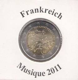 Frankreich 2 € 2011, Musique