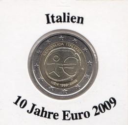 Italien 2 € 2009, 10 Jahre Euro