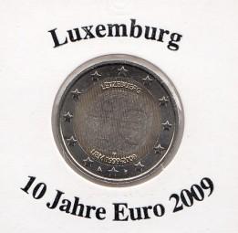 Luxemburg 2 € 2009, 10 Jahre Euro