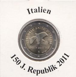 Italien 2 € 2011, 150 Jahre Republik