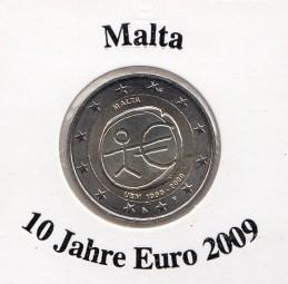 Malta 2 € 2009, 10 Jahre Euro
