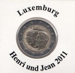 Luxemburg 2 € 2011, Henri u. Jean