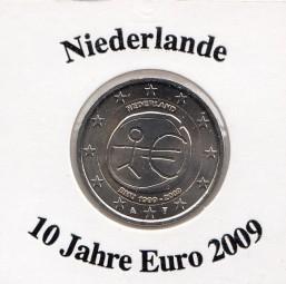 Niederlande 2 € 2009, 10 Jahre Euro
