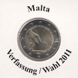 Malta 2 € 2011, Verfassung / Wahl