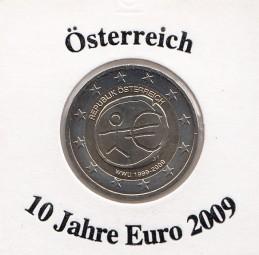 Österreich 2 € 2009, 10 Jahre Euro