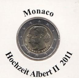 Monaco 2 € 2011, Hochzeit Albert + Charlene, im Etui