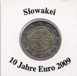 Slowakei 2 € 2009, 10 Jahre Euro
