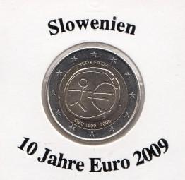 Slowenien 2 € 2009, 10 Jahre Euro