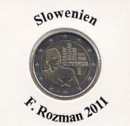 Slowenien 2 € 2011, F. Rozman