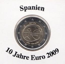 Spanien 2 € 2009, 10 Jahre Euro