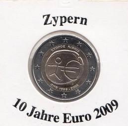 Zypern 2 € 2009, 10 Jahre Euro