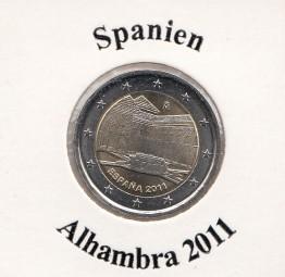 Spanien 2 € 2011, Alhambra