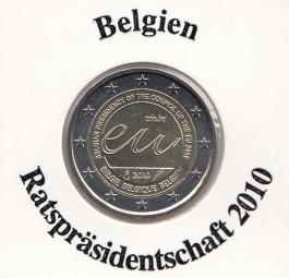 Belgien 2 € 2010 Ratspräsidentschaft