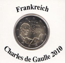 Frankreich 2 € 2010, Charles de Gaulle