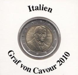 Italien 2 € 2010 Graf von Cavour