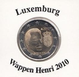 Luxemburg 2 € 2010 Wappen Henri