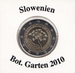 Slowenien 2 € 2010, Botanischer Garten