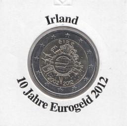 Irland 2 € 2012, 10 Jahre Eurobargeld,