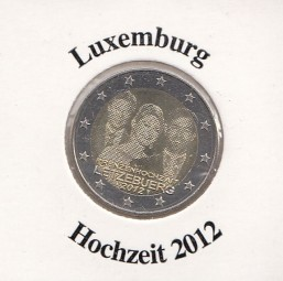 Luxemburg 2 € 2012, Hochzeit,