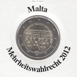 Malta 2 € 2012, Mehrheitswahlrecht,