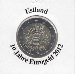 Estland 2 € 2012, 10 Jahre Eurobargeld