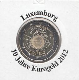 Luxemburg 2 € 2012, 10 Jahre Eurobargeld,