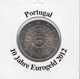 Portugal 2 € 2012, 10 Jahre Eurobargeld,