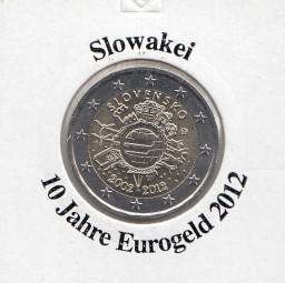 Slowakei 2 € 2012, 10 Jahre Eurobargeld,