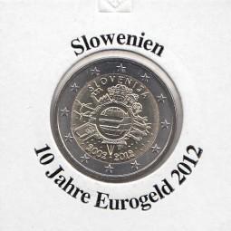 Slowenien 2 € 2012, 10 Jahre Eurobargeld,