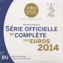 Frankreich Kursmünzsatz 2014 ST