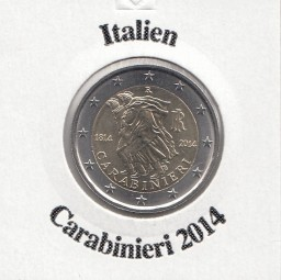 Italien 2 € 2014 Carabinieri