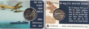 Malta 2 € 2015, Erstflug , mit Prägezeichen NL-Mint, in Coincard