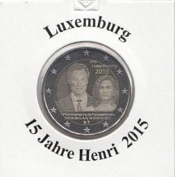 Luxemburg 2 € 2015 15 Jahre Henri