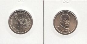 22 USA Präsidenten - Dollar 2012, Cleveland, Buchstabe P, bankfrisch