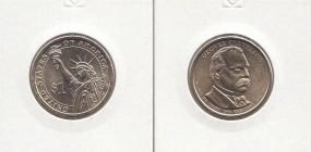24 USA Präsidenten - Dollar 2012, Cleveland 2. Amtszeit, Buchstabe P, bankfrisch
