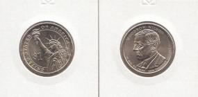 28 USA Präsidenten - Dollar 2013, Wilson, Buchstabe P, bankfrisch